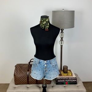 Minkpink Star Studded Denim // Jean Shorts Medium